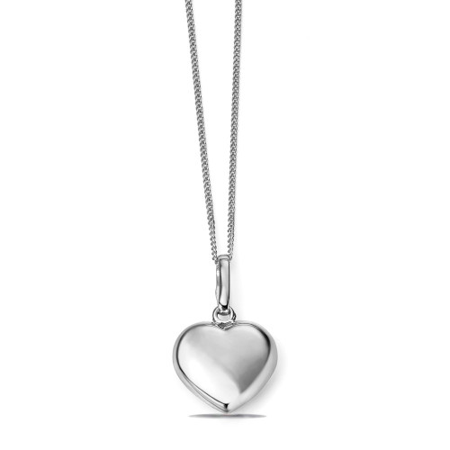 Personalize Plain Gold Heart Shape Diamond Necklace (15.5mm X 11mm)