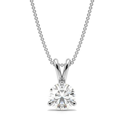 3 Prong Setting Round Solitaire Diamond Pendant