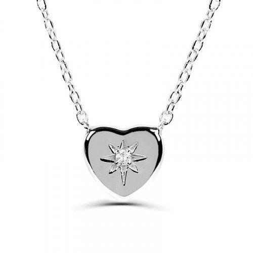 0.05Ct Heart Diamond Solitaire Pendant Necklace for Women (8X7Mm)