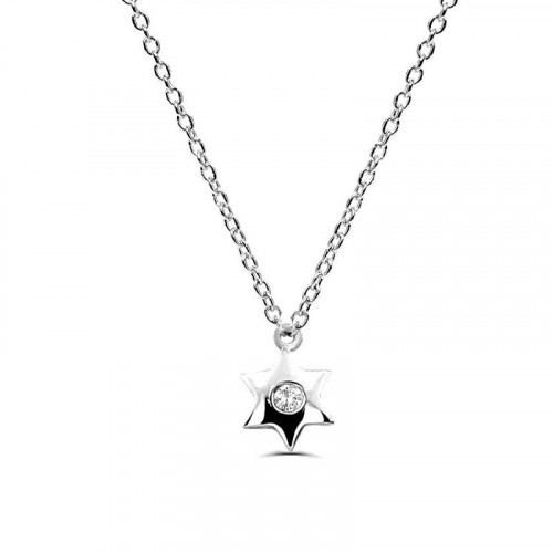 0.02Ct Star Diamond Solitaire Pendant Necklace for Women (6.5X6.5Mm)