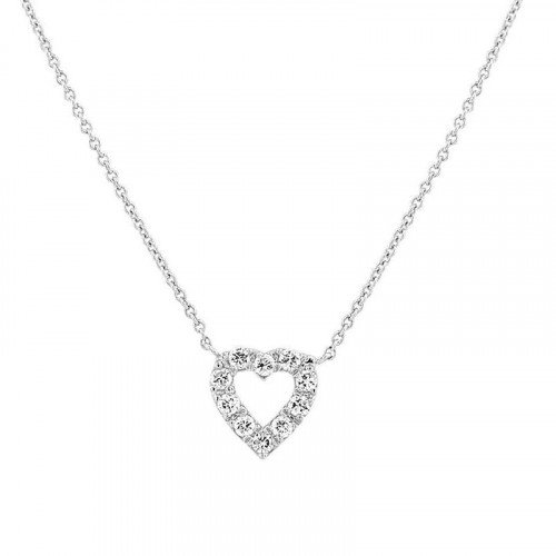 0.1Ct Heart Shape Diamond Necklace Pendant for Women (6X6Mm)