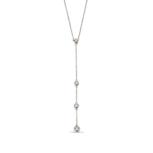 Illusion Disc Diamond Y-Drop Diamond necklace  (Hanging drop part - 65 mm )