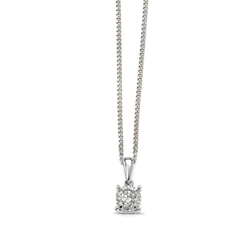 Popular Cluster Diamond Pendant (11mm X 5mm)