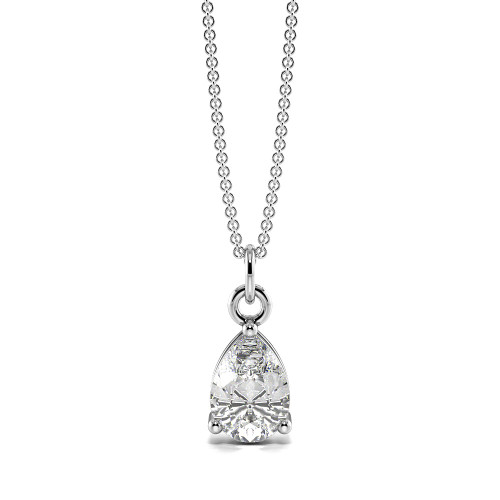 Tear Drop Shape Dangling Single diamond solitaire necklace (11.50mm X 4.80mm)