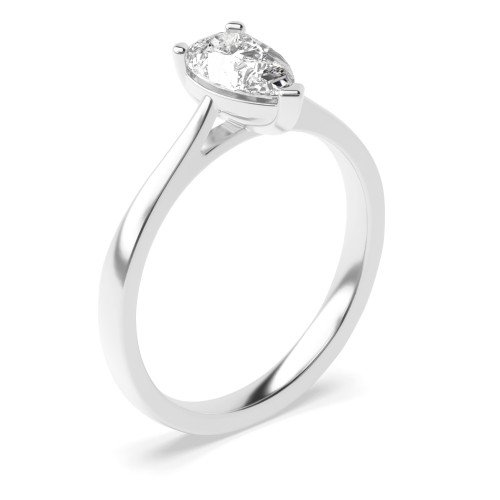 Prong Setting Pear Diamond Solitaire Engagement Ring