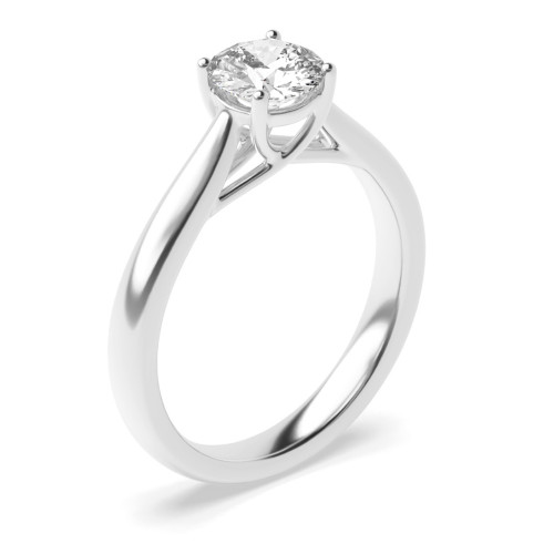 Yellow Gold Engagement Rings UK With Brilliant Cut Round Solitaire Diamond