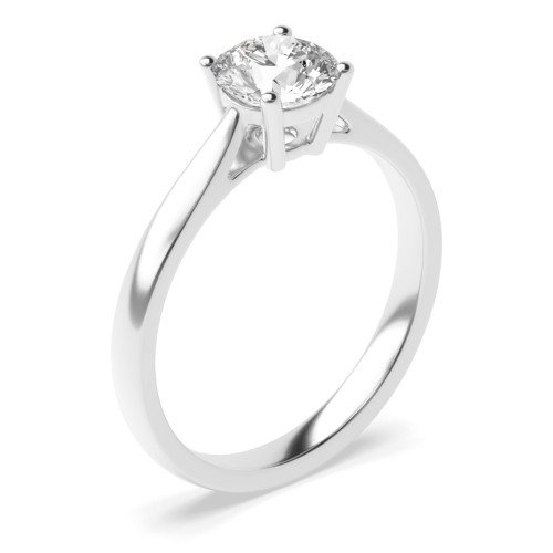 Solitaire Engagement Rings Platinum / Rose / White Gold Brilliant Cut Diamond
