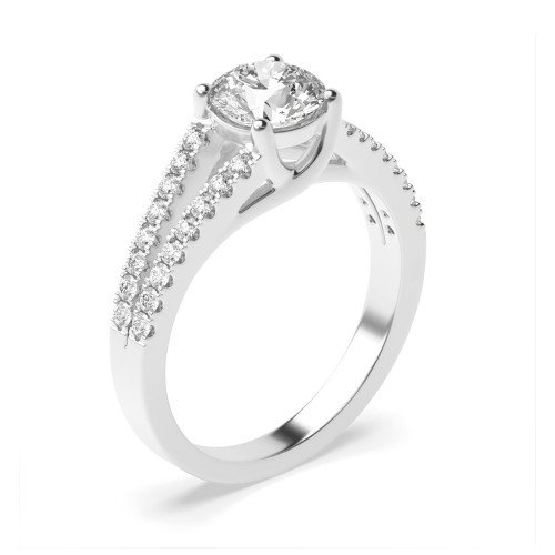 Two Raw Shoulder Side Stone Diamond Engagement Rings