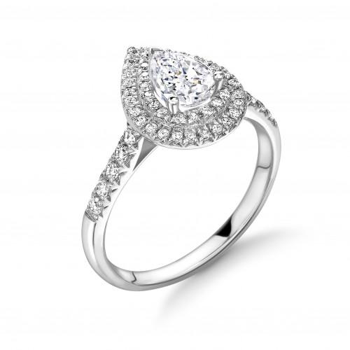 4 Prong Setting Marquise Shape 2 Raw Halo Diamond Engagement Rings