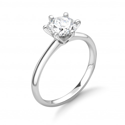 Exclusive Crown Style Setting Solitaire Diamond Engagement Rings