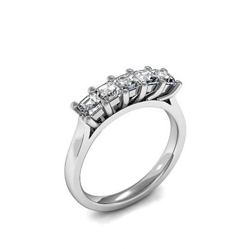 Princess Cut Five Stone Diamond Ring In In Gold / Platinum