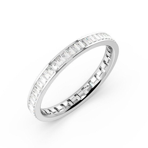 Channel Setting Baguette Full Eternity Diamond Ring (Available in 2.25mm to 3.5mm)