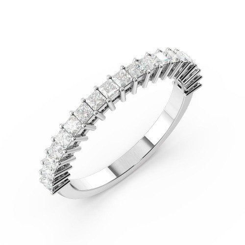 Prong Setting Princess Half Eternity Diamond Ring