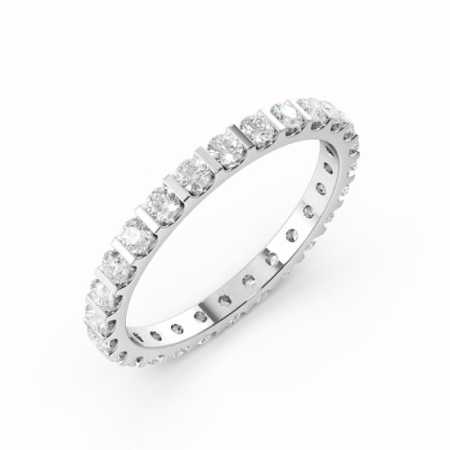 Bar Setting Round Diamond Full Eternity Wedding Rings Uk