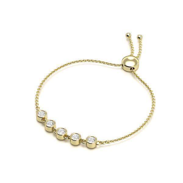 Five Diamond Bracelets in Bezel Setting
