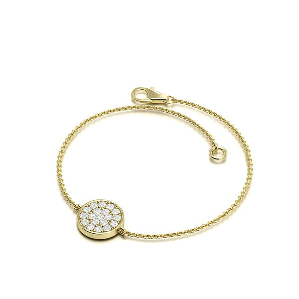 Round Disc Diamond Bracelets