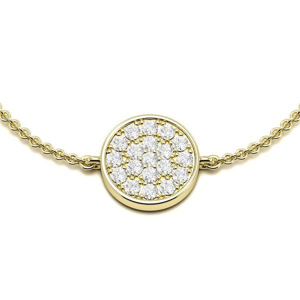 Round Disc Diamond Bracelets