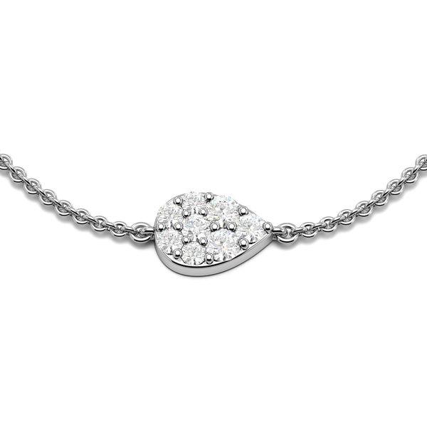 Pear Disc Diamond Bracelets