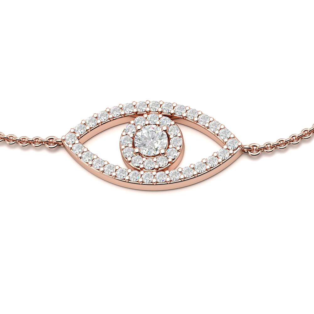 Halo Deliv Eye Link Diamond Bracelets