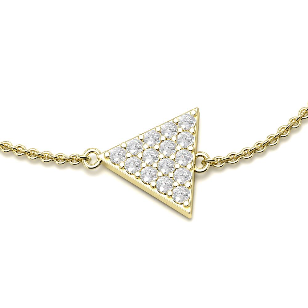 Triangle Disc Chain Diamond Bracelets