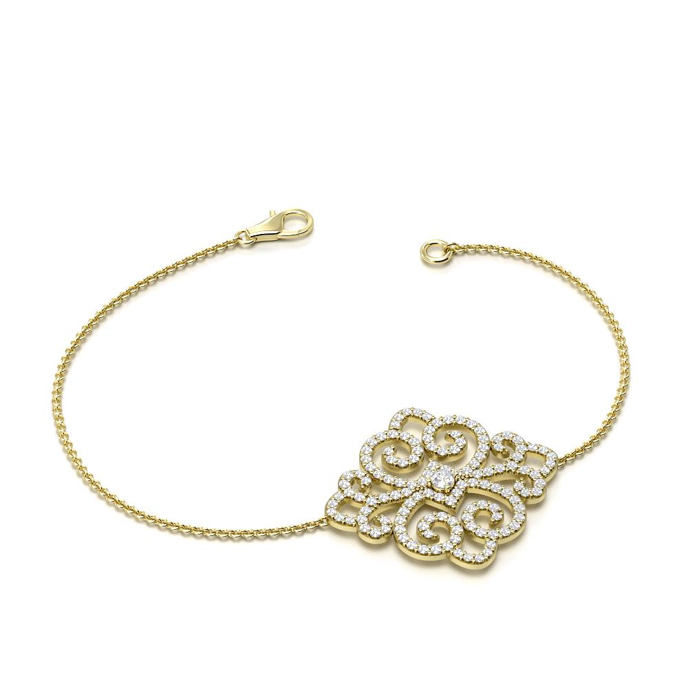 Designer Luxurious Chain Diamond Bracelets