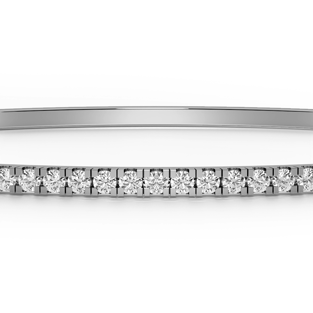 4 Prong Studded Diamond Bangle