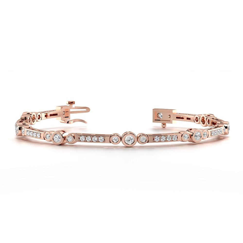 3 Diamond Cluster Diamond Tennis Bracelets