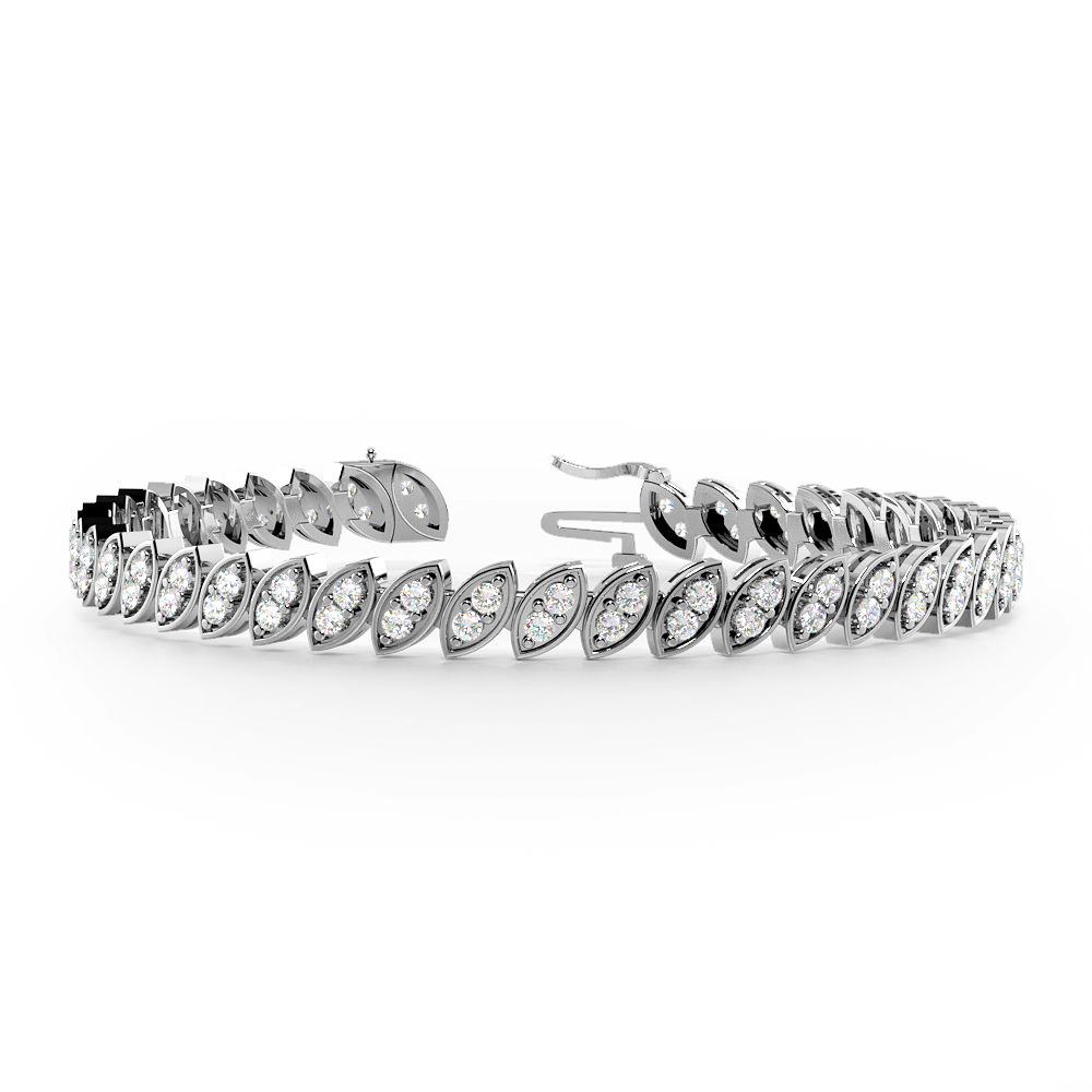2 Stone Links Diamond Tennis Bracelets
