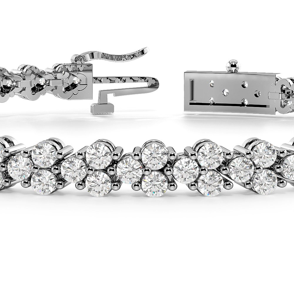 Exclusive Cluster Diamond Bracelets