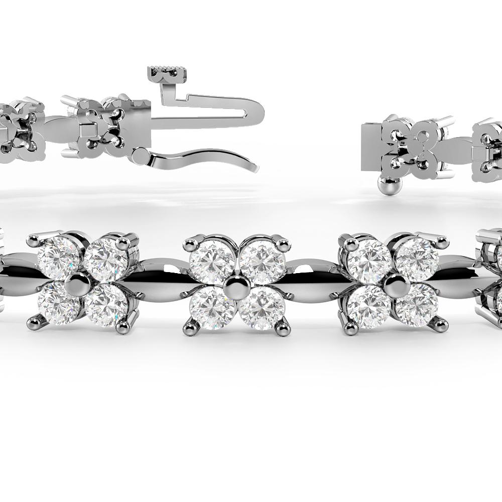 4 Diamonds Cluster Diamond Bracelets