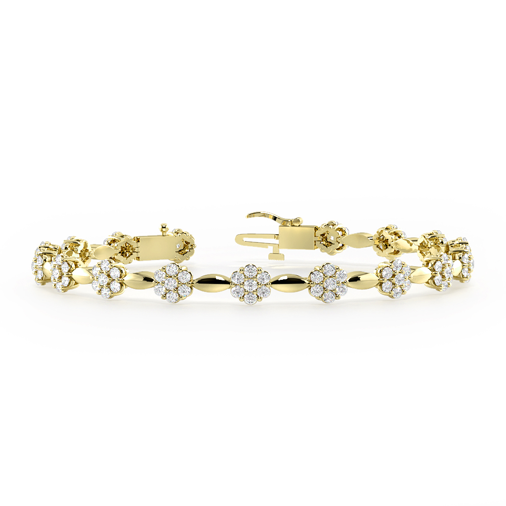 Station Cluster Diamond Bracelets