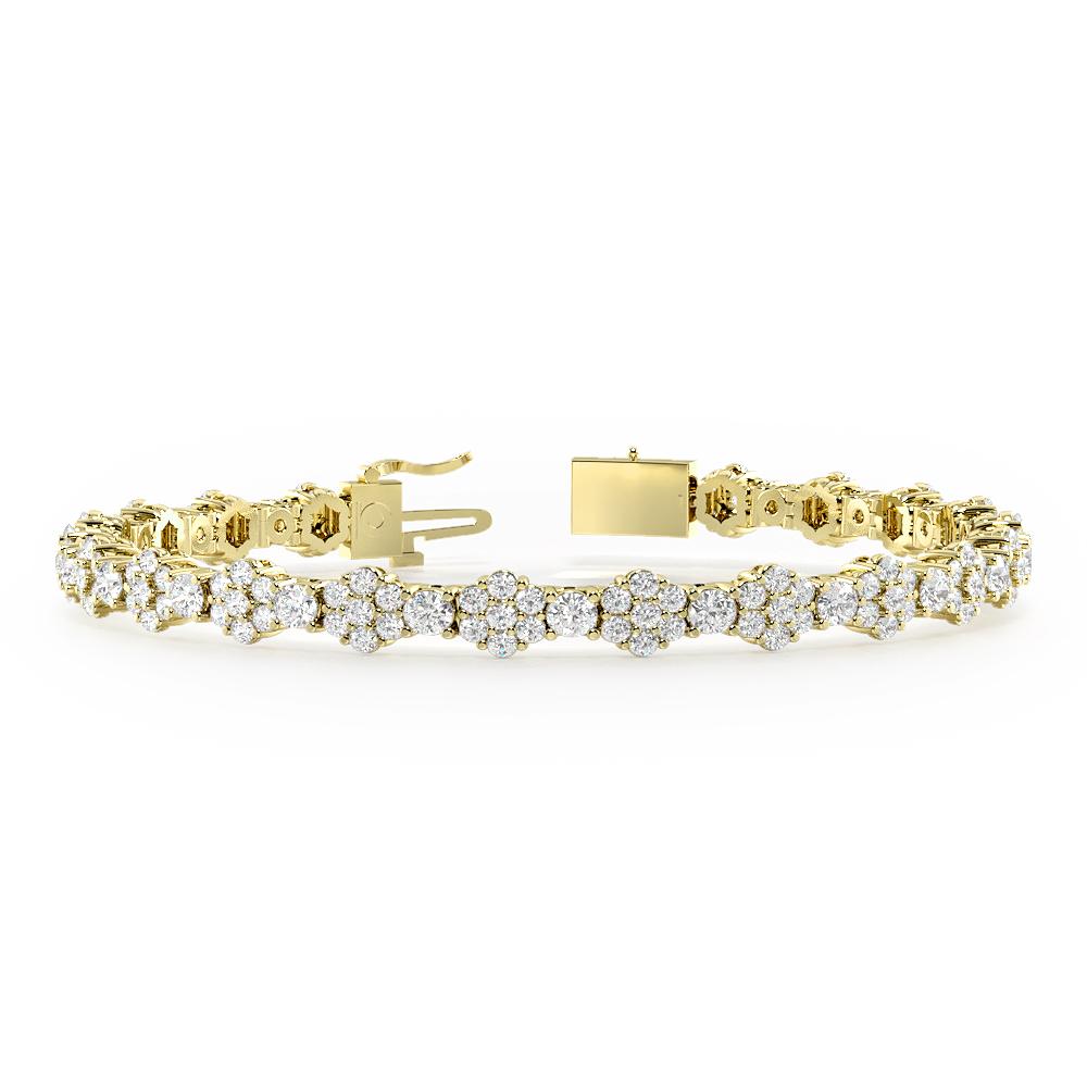 Luxurious Cluster Diamond Bracelets