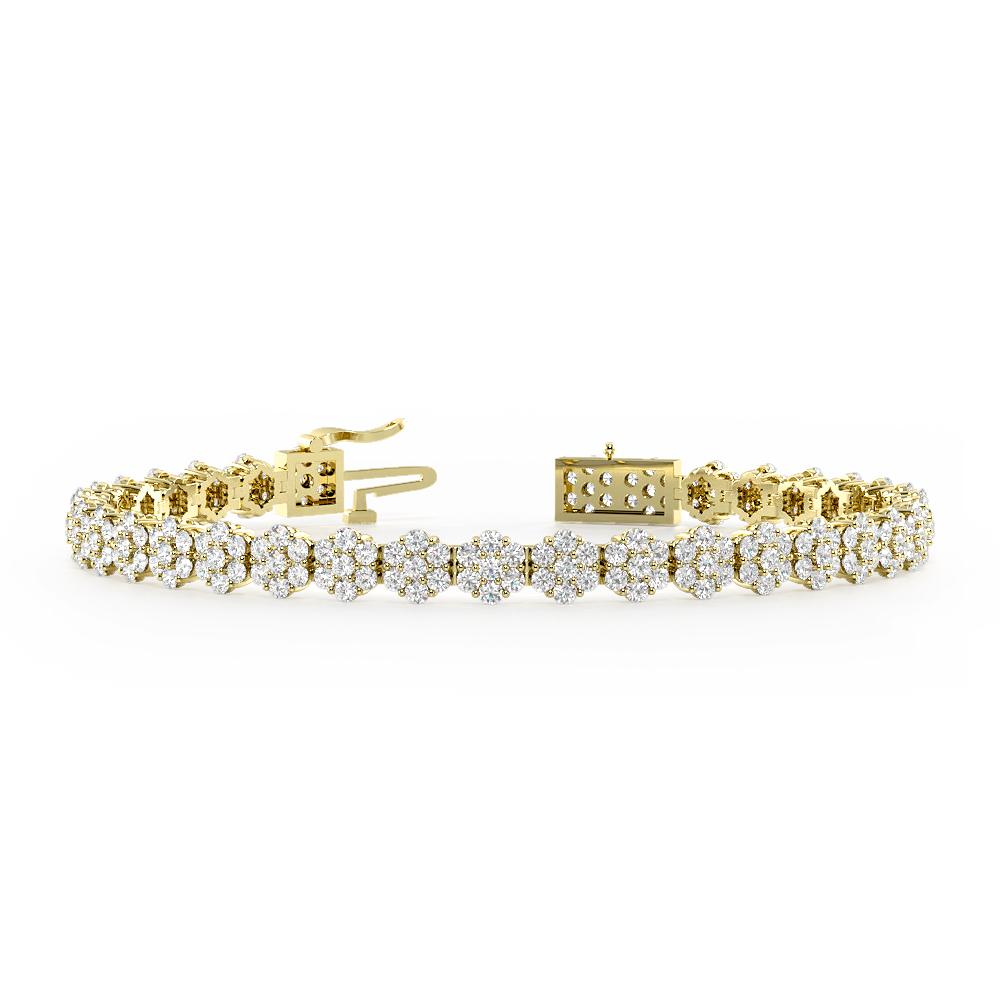 Classic Design Cluster Diamond Bracelets