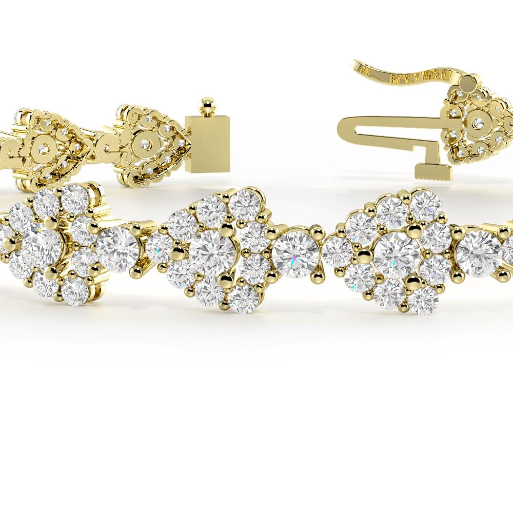Triangle Halo Cluster Diamond Bracelets