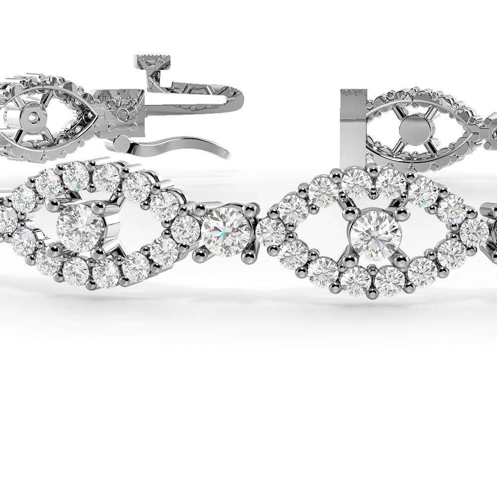 Delvil Eye Cluster Diamond Bracelets