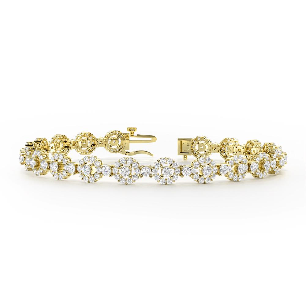 Halo Cluster Diamond Bracelets