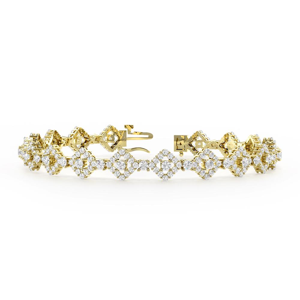 Square Halo Cluster Diamond Bracelets