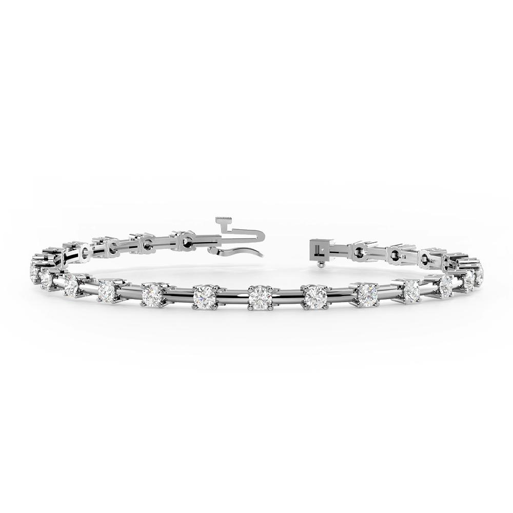 Plain Bar Link Delicate Diamond Bracelets