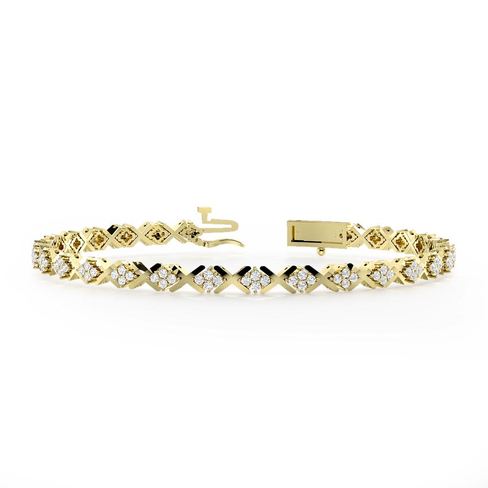 X-Link Cluster Diamond Bracelets