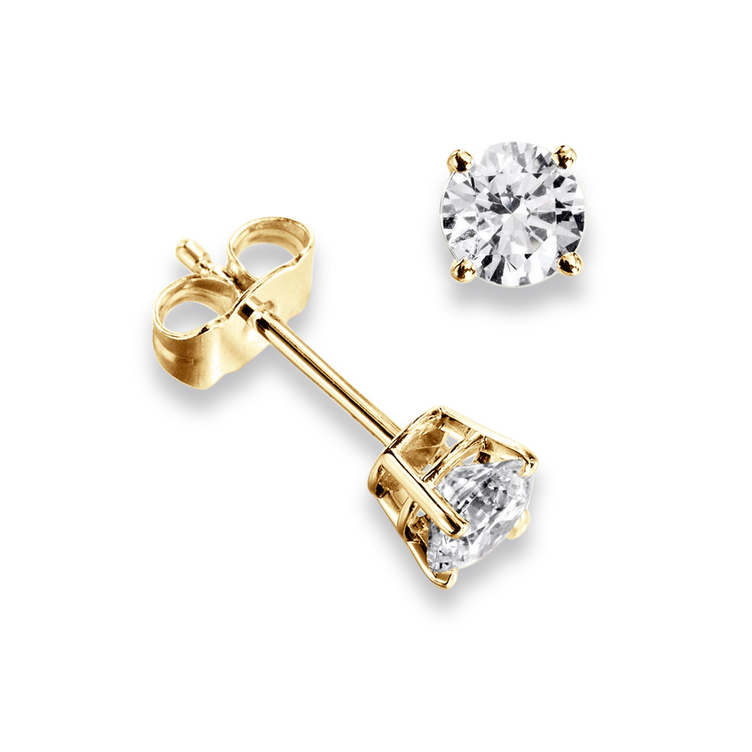 c02f4ddc5 Platinum & Yellow/White Gold Single Diamond Stud Earrings For Men