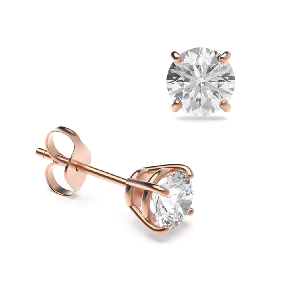 Platinum & Yellow/White Gold Diamond Stud Earrings