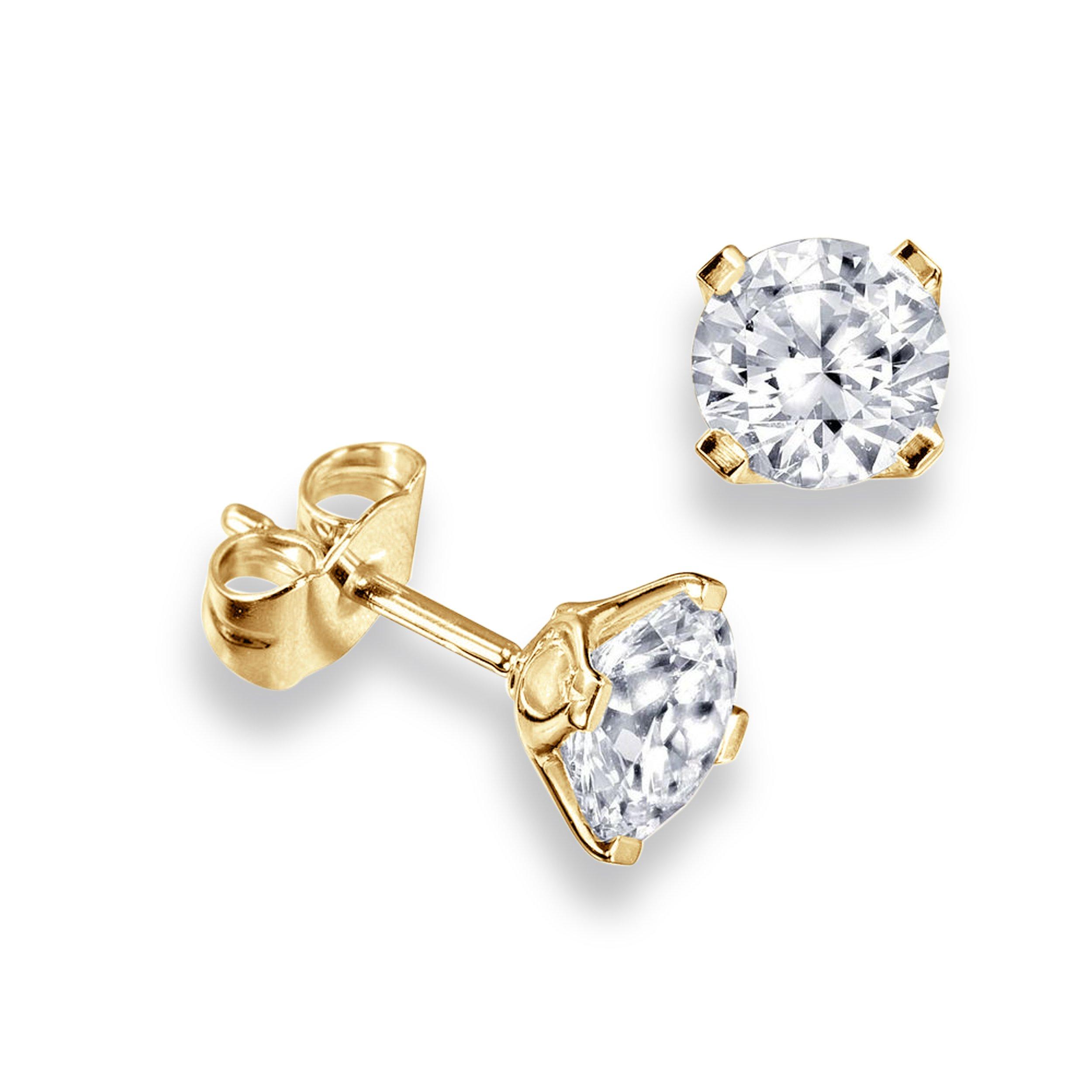 70fdde6653c2a2 Platinum, 18ct & 9ct Gold Single Diamond Stud Earrings For Men