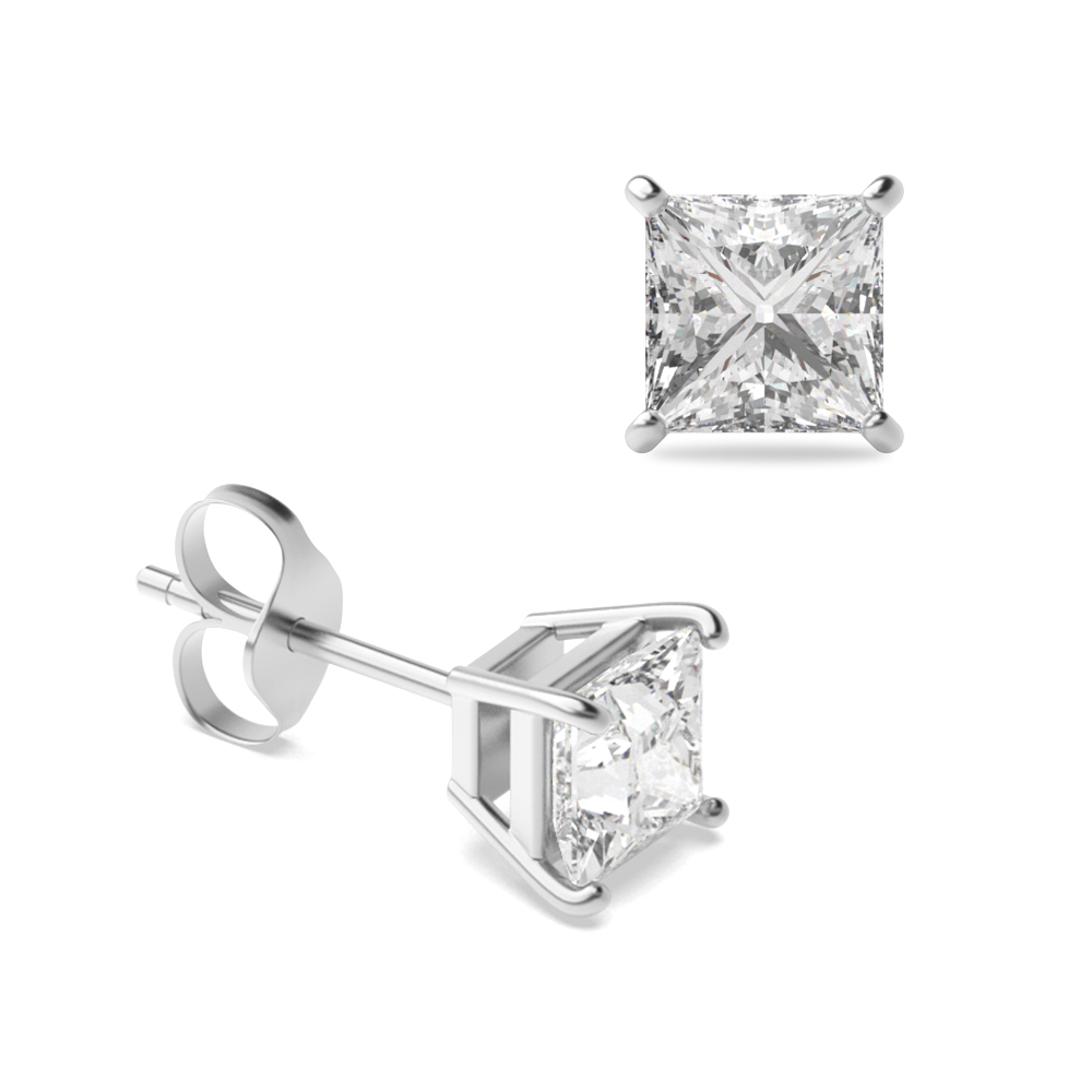 Platinum, 18ct & 9ct Gold Diamond Stud Earrings