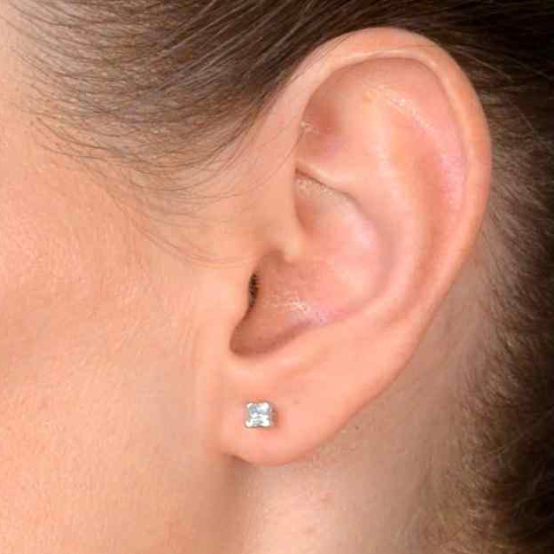 Diamond Studs For Women Princess Stud Earrings
