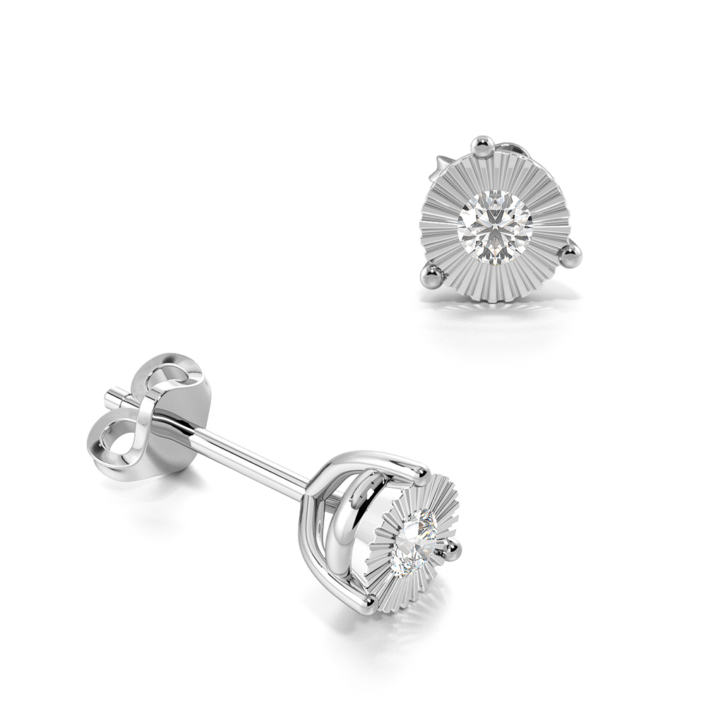 25f6940ff 1/2 ct 9kt yellow gold diamond stud earrings for women