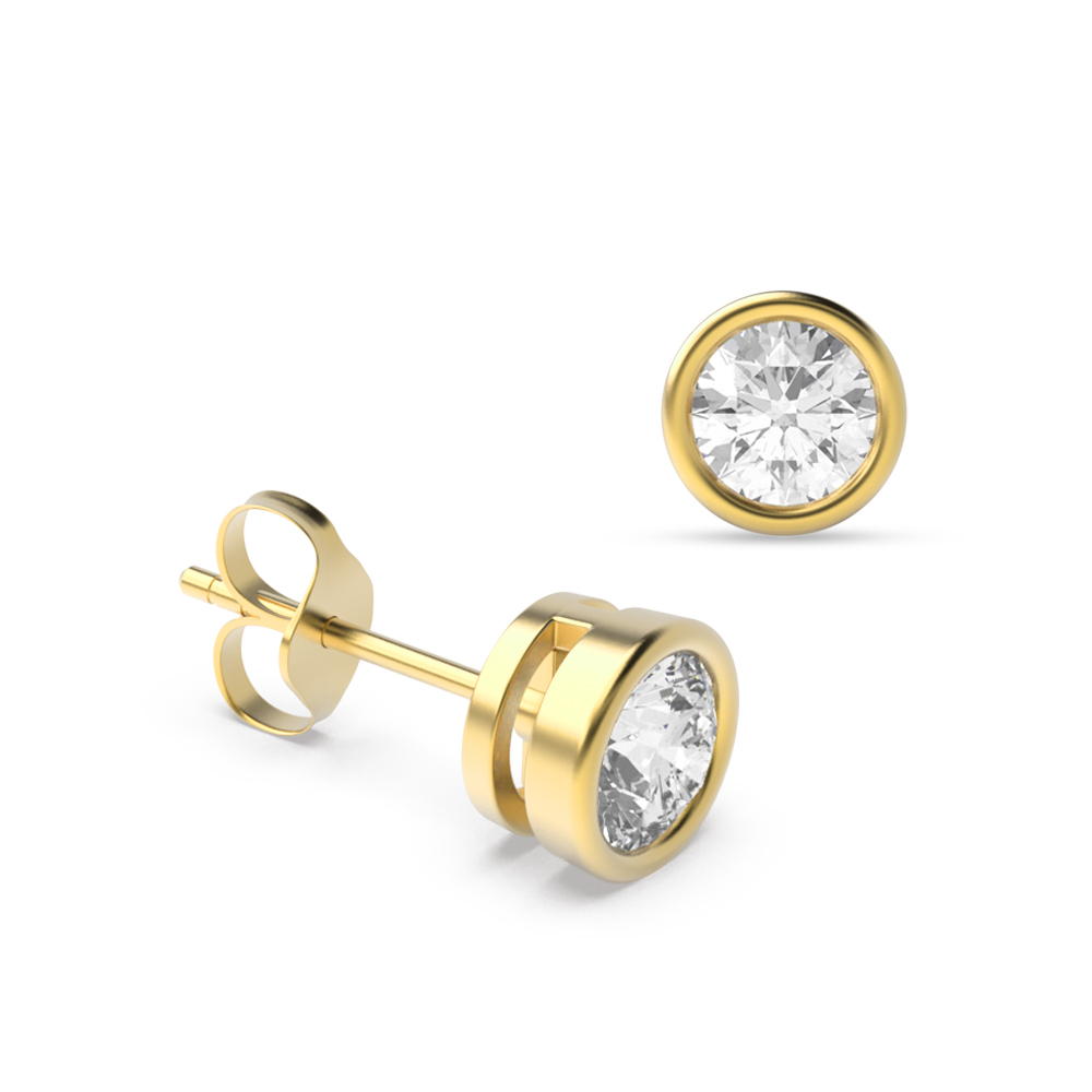 Small Diamond Stud Earring White Gold and Platinum