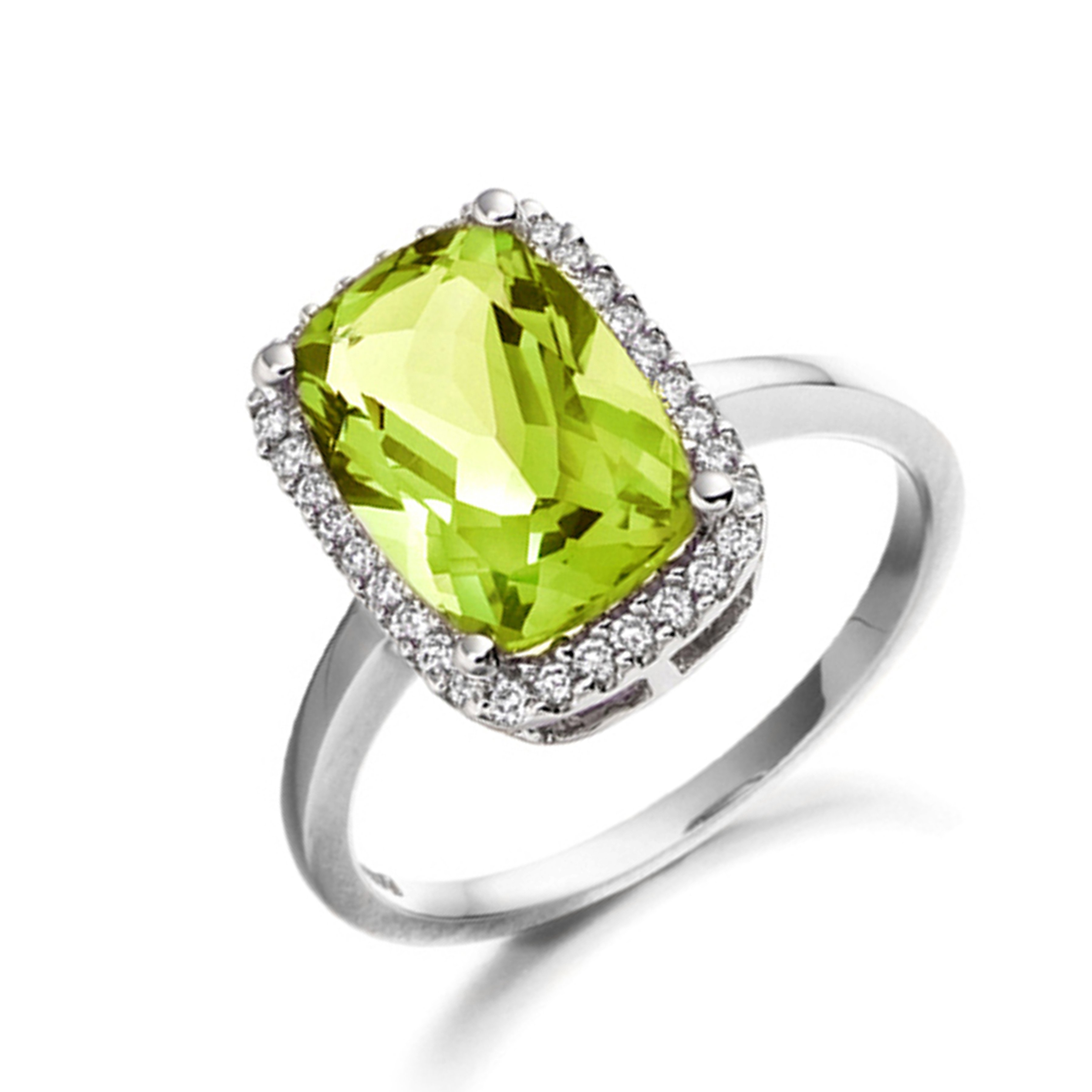 Princess Cut Diamond Halo Diamond Earrings Available in White, Yellow, Rose Gold and Platinum