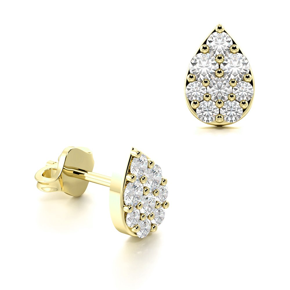 Pear Shape Tear Drop Diamond Cluster Earrings An Ideal Gift