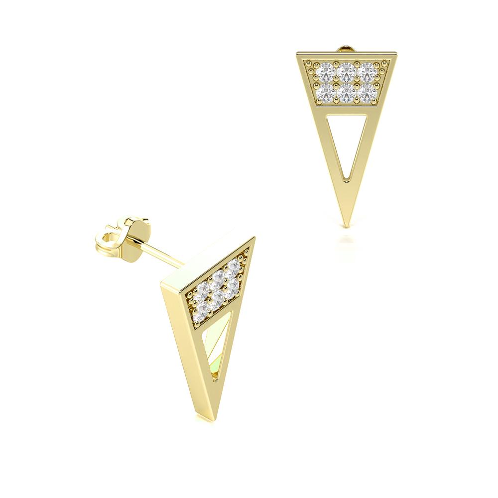Delicate & Elegant Pave Setting Diamond Designer Earrings (12.00mm X 6.80mm)