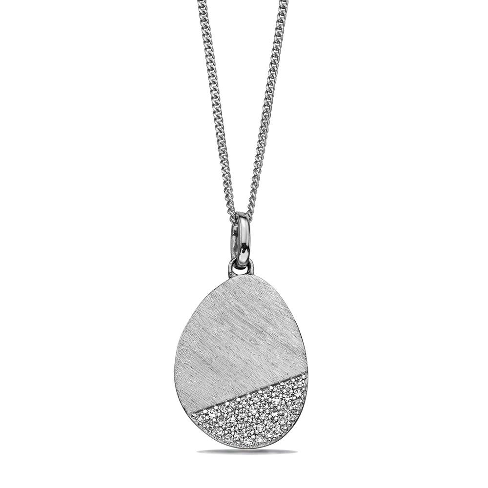Scratch Effect Designer Diamond Pendant (16.5mm X 11mm)